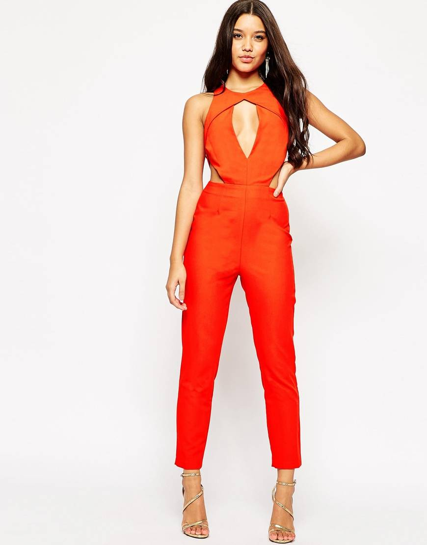 ASOS Angular Cut Out Jumpsuit With Peg Leg -style and the sass