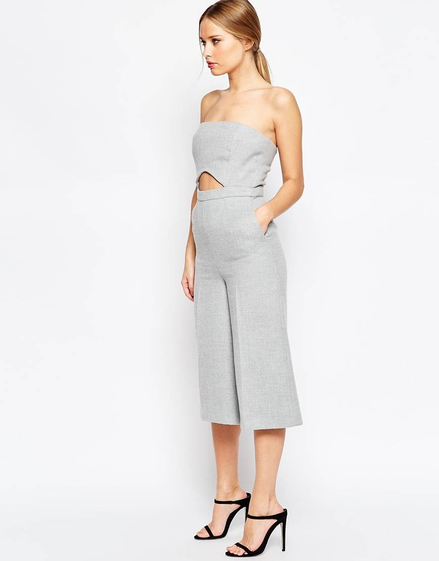 ASOS Premium Jumpsuit in Texture with Cut Out Detail -Style and the Sass