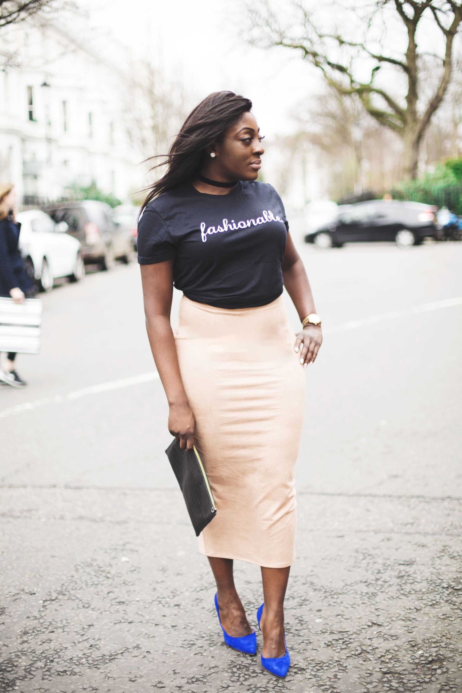 Beige midi skirt - miss guided - Style and the Sass