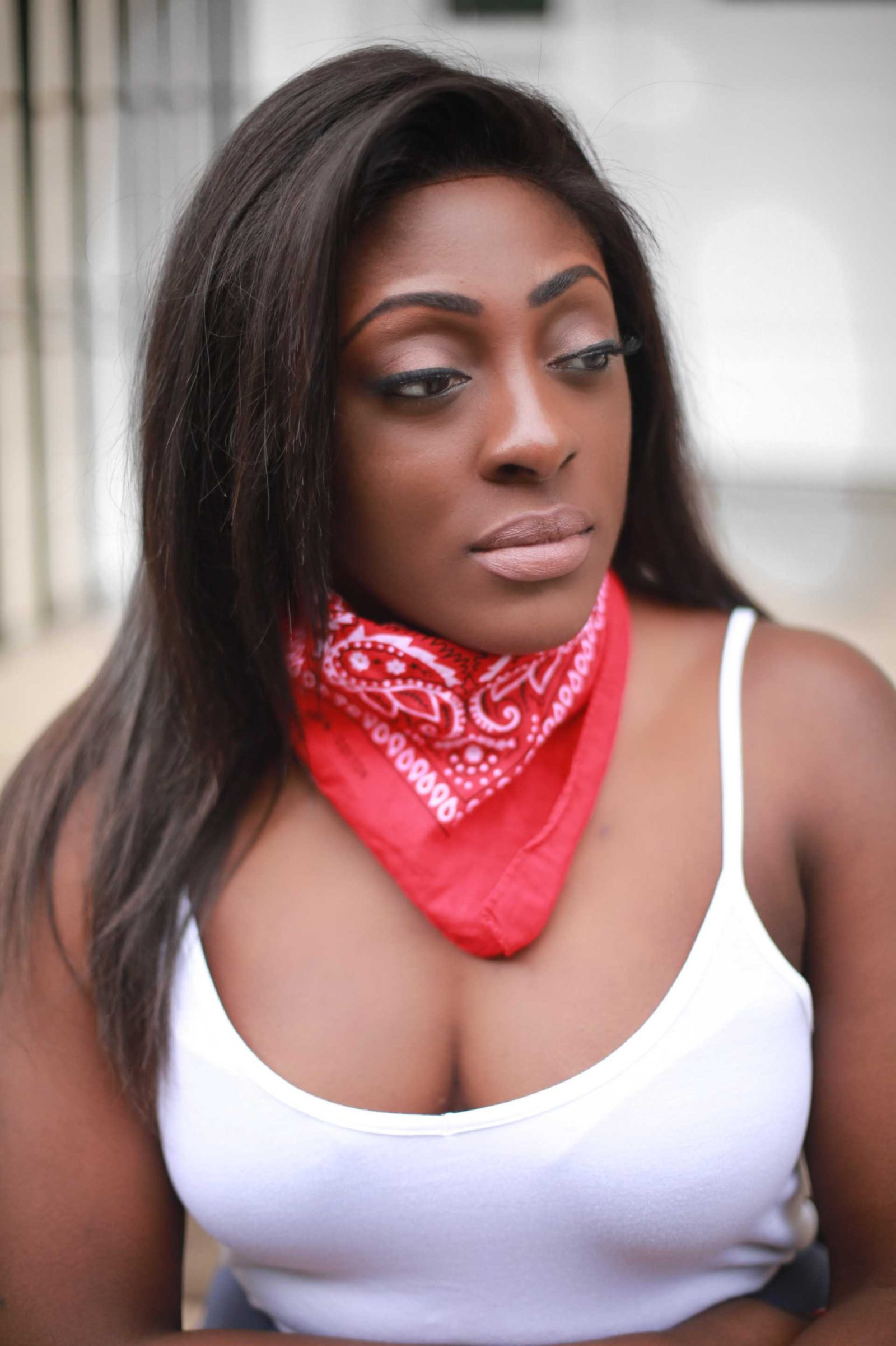 Bandana scarf in red from asos 1 - style and the sass