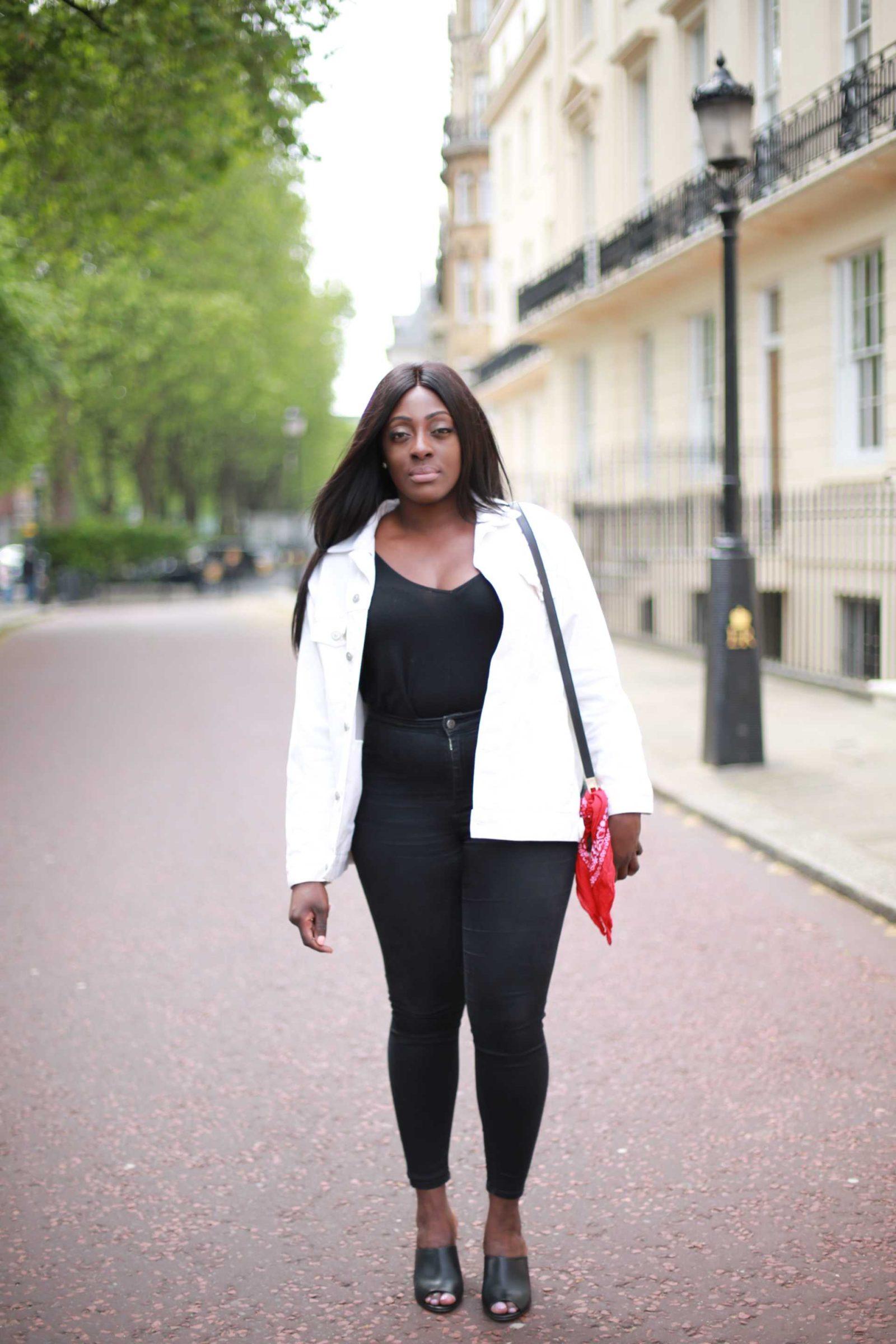 White denim Jacket - ASOS - Style and the Sass