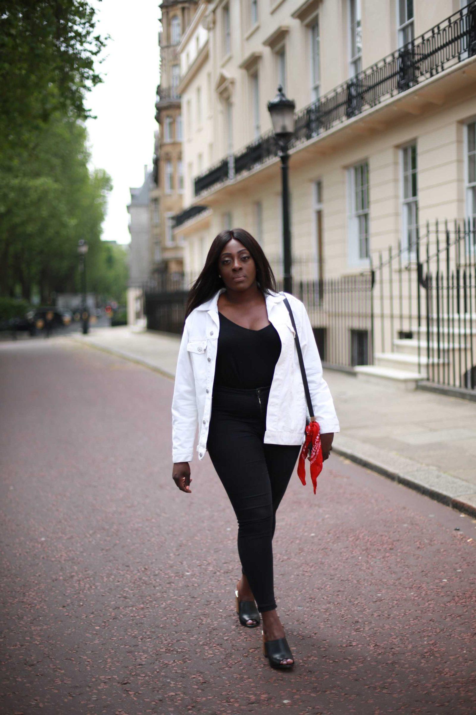 White Denim Jacket ASOS - Style and the Sass