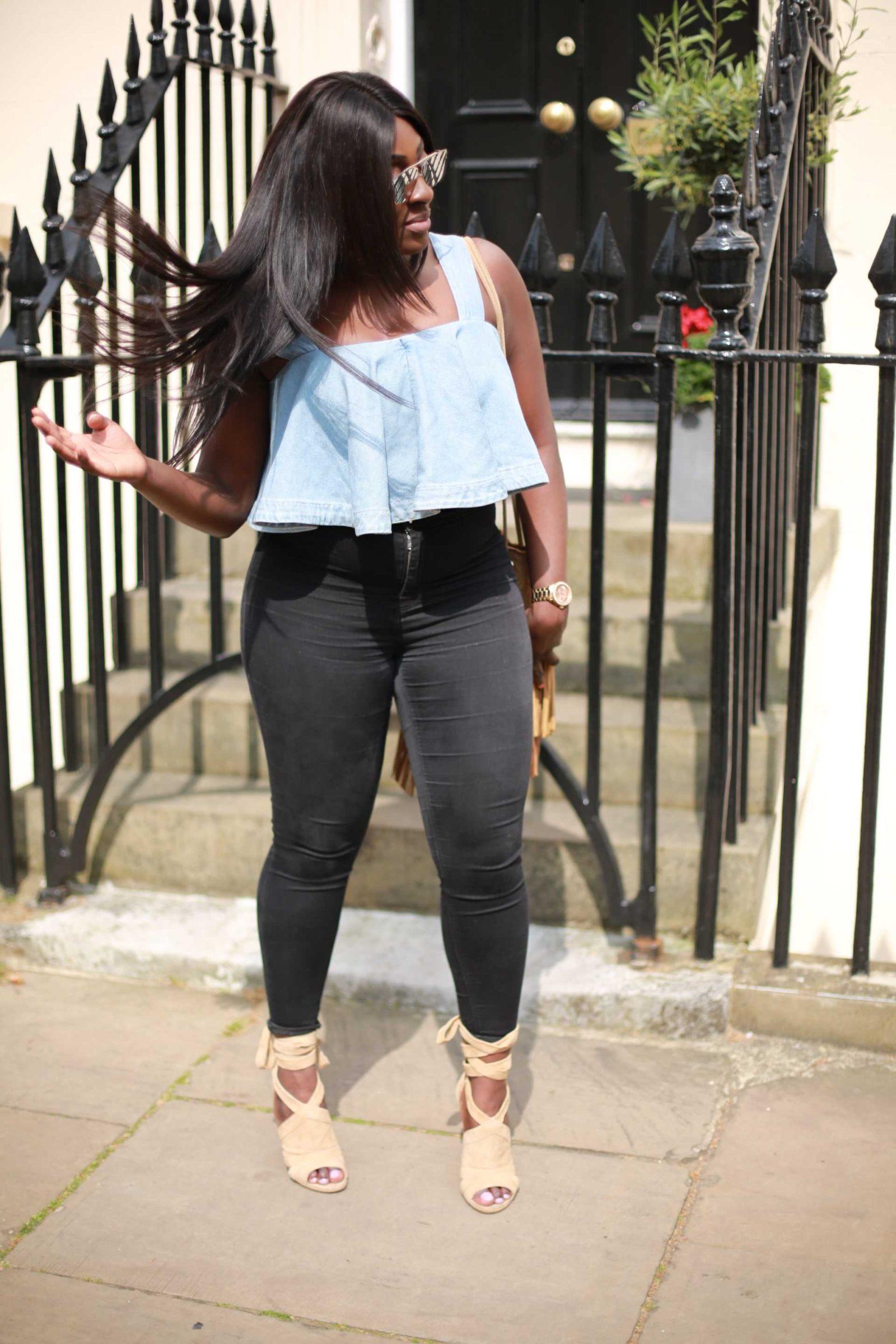 Denim Crop Tops - ASOS - Zara - Style and the Sass
