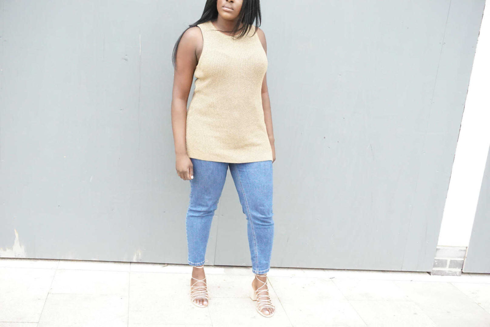 The Gold Sleeveless Top 2 - Style and the Sass