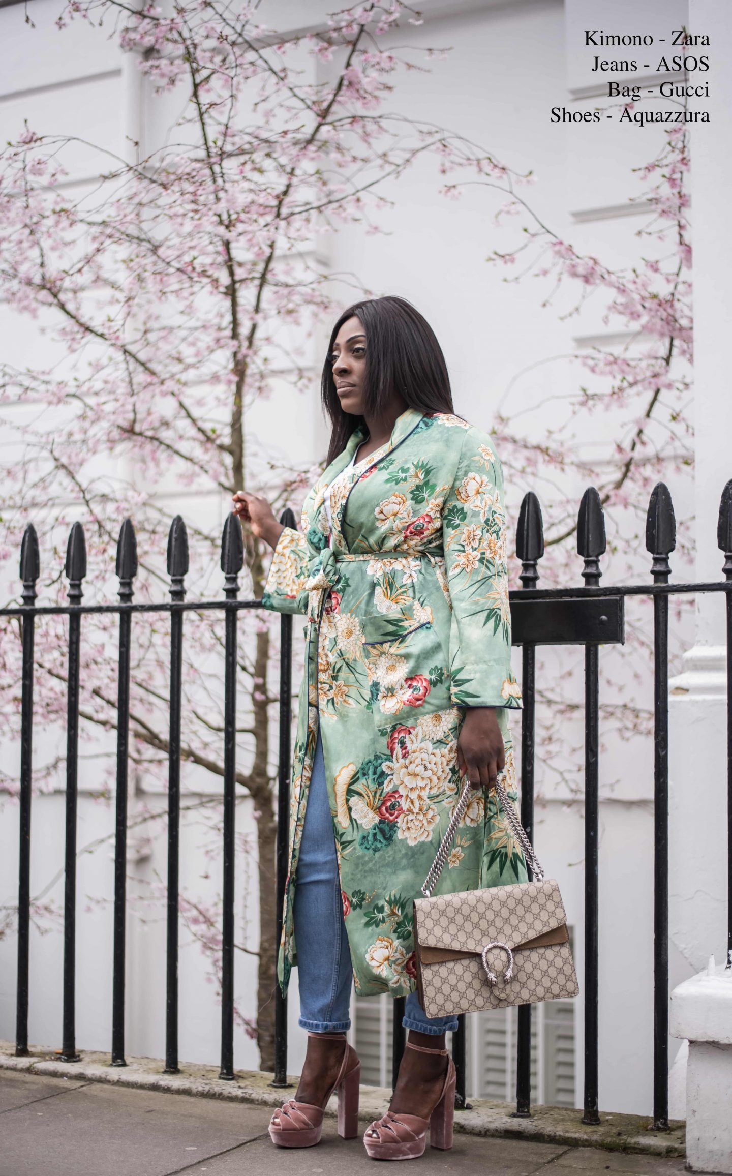Kimono Spring Bloom's & Aquazzura's - Style and the Sass