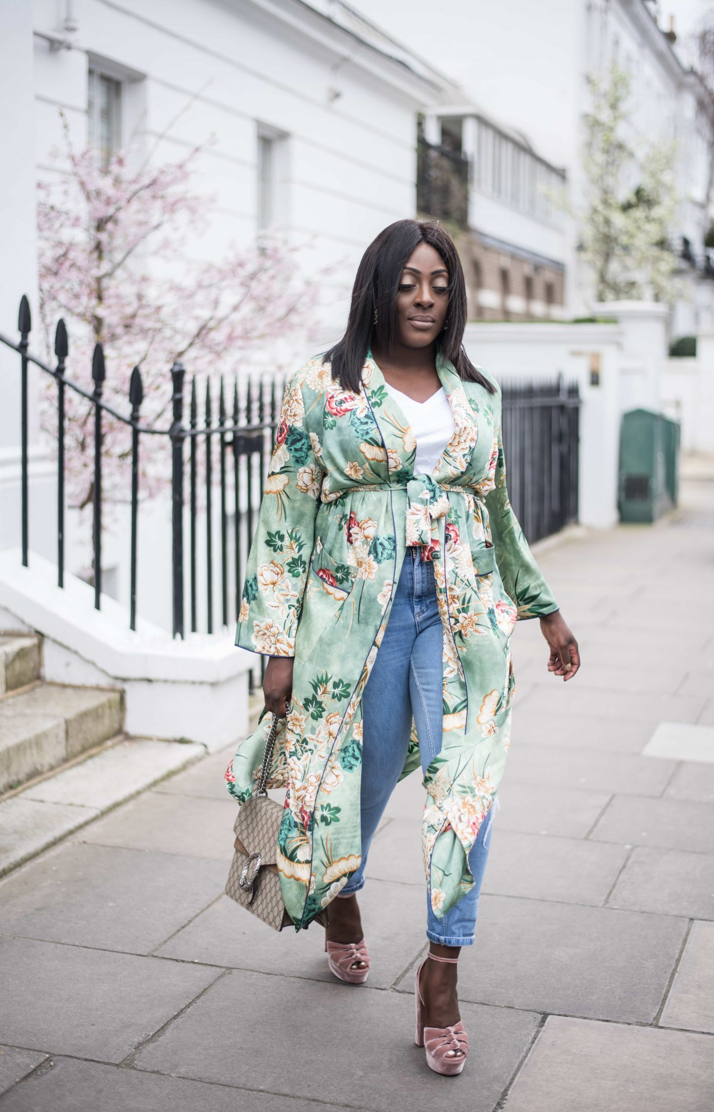 Kimono Spring Bloom's & Aquazzura's 7 - Style and the Sass
