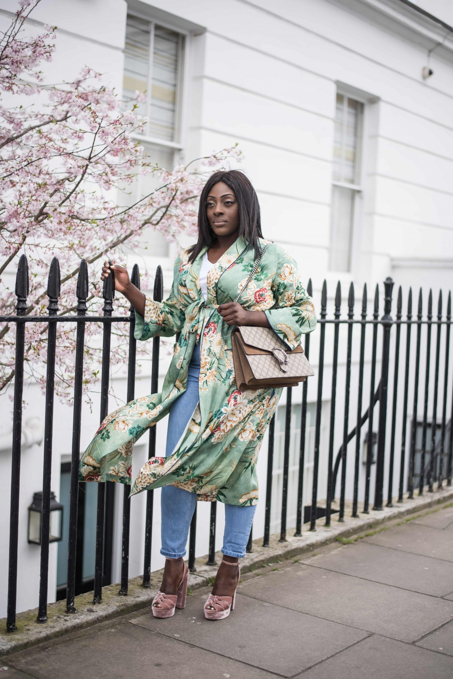 Kimono Spring Bloom's & Aquazzura's 6 - Style and the Sass