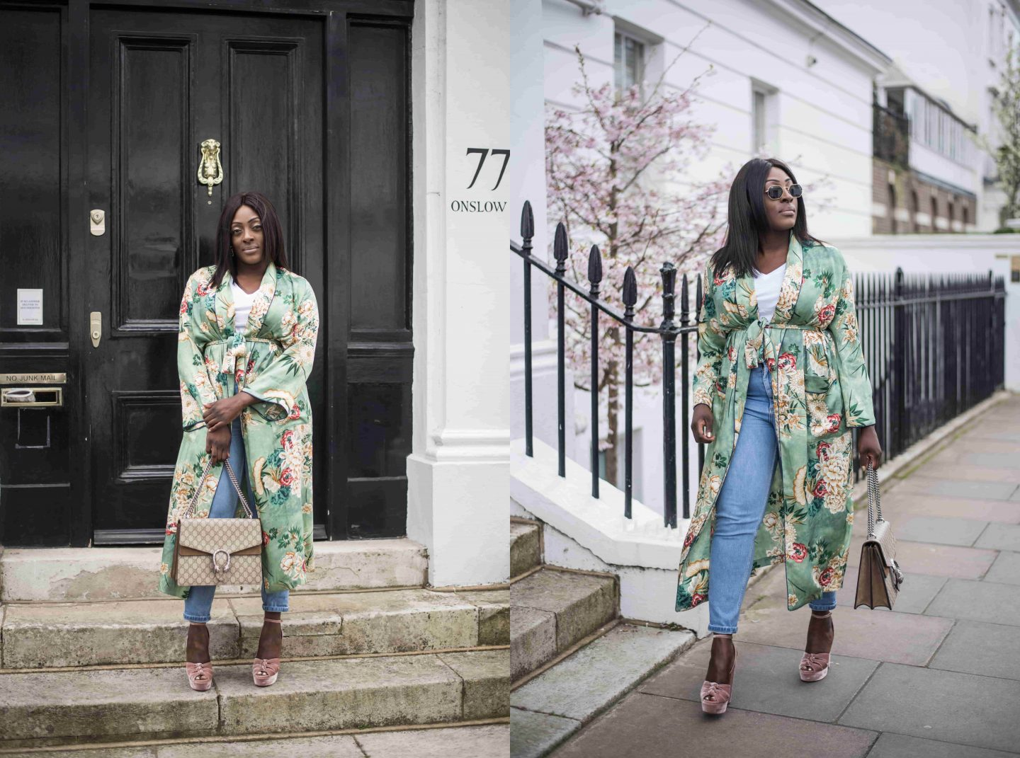 Kimono Spring Bloom's & Aquazzura's 5 - Style and the Sass