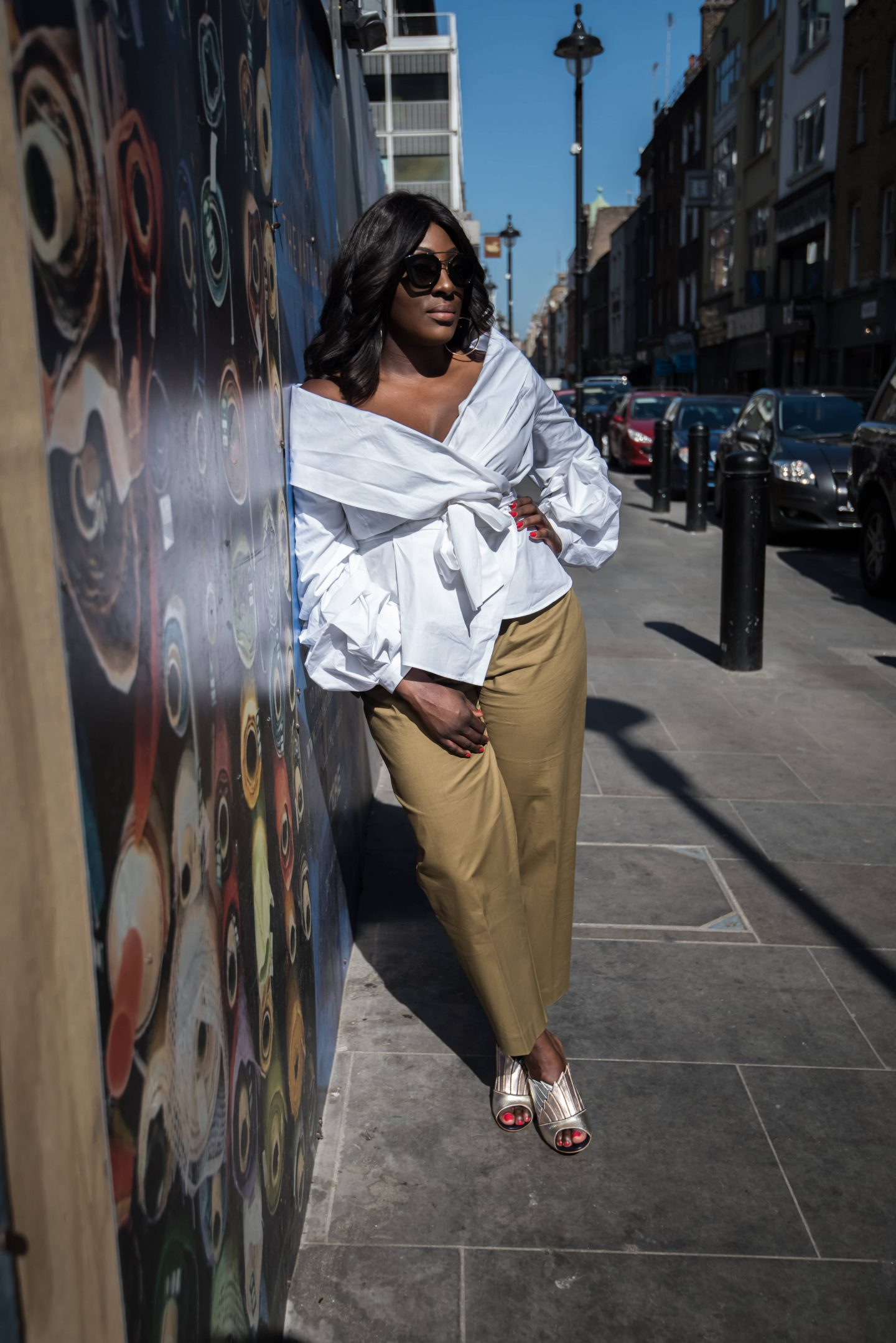 Utility Chic & Malone Souliers 5 - Mango Utility Trousers - ASOS White Wrap Top - Style and the Sass