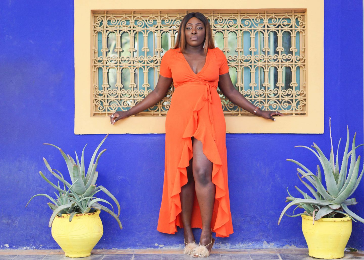 Marrakech - Le Jardin Majorelle Yves Saint Laurent 1 - Orange maxi dress from ASOS - Style and the Sass