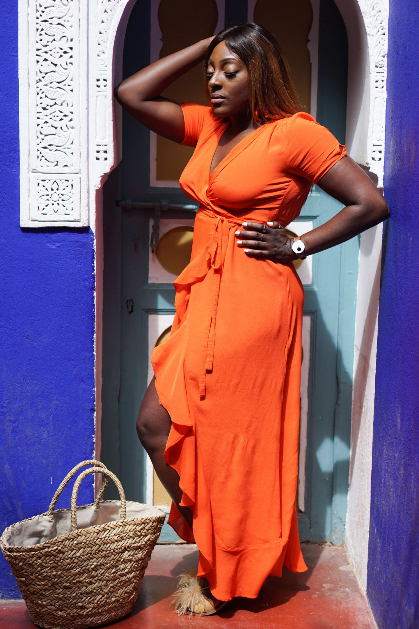 Marrakech - Le Jardin Majorelle Yves Saint Laurent 4 - Orange maxi dress from ASOS - Style and the Sass