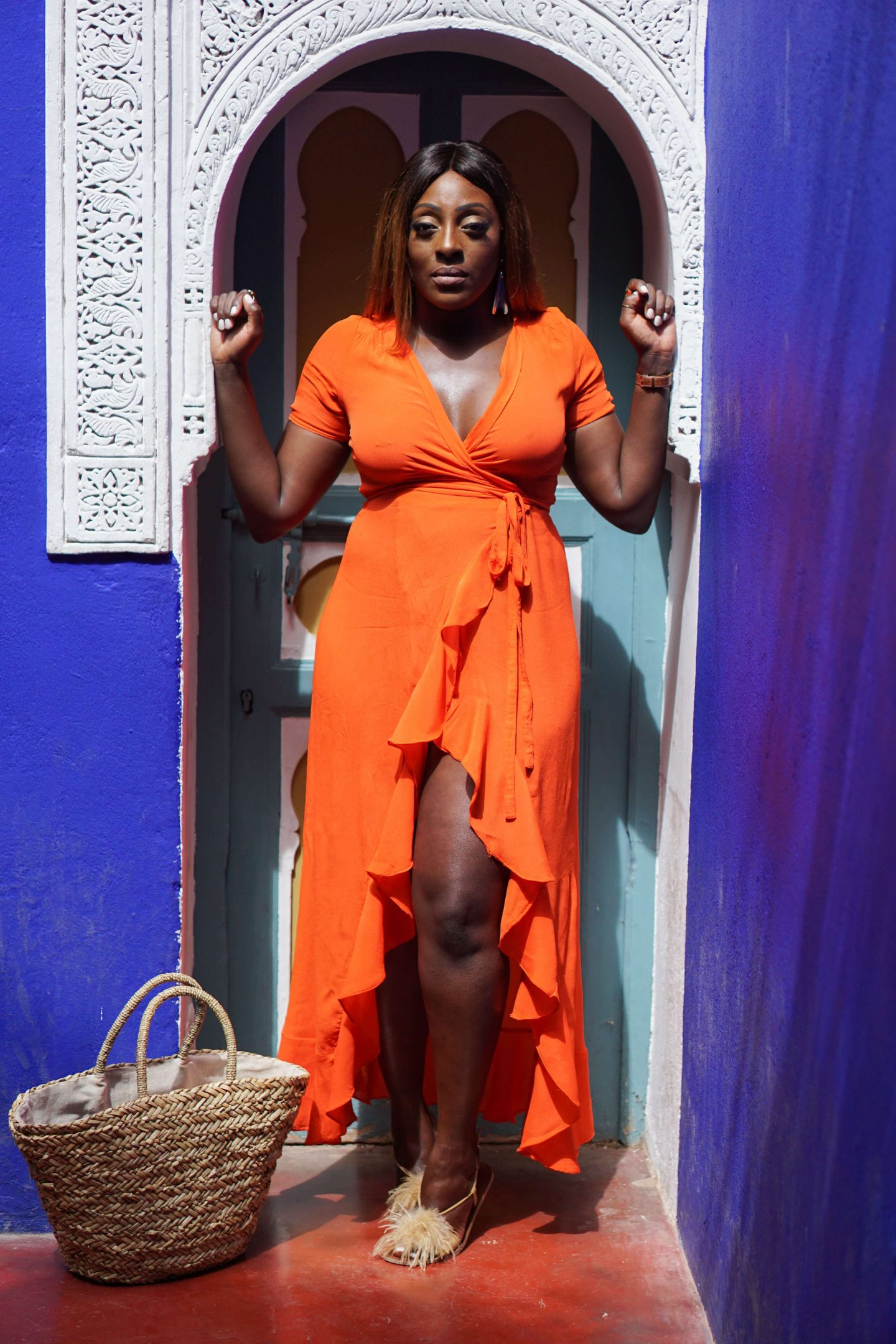 Marrakech - Le Jardin Majorelle Yves Saint Laurent 8 - Orange maxi dress from ASOS - Style and the Sass