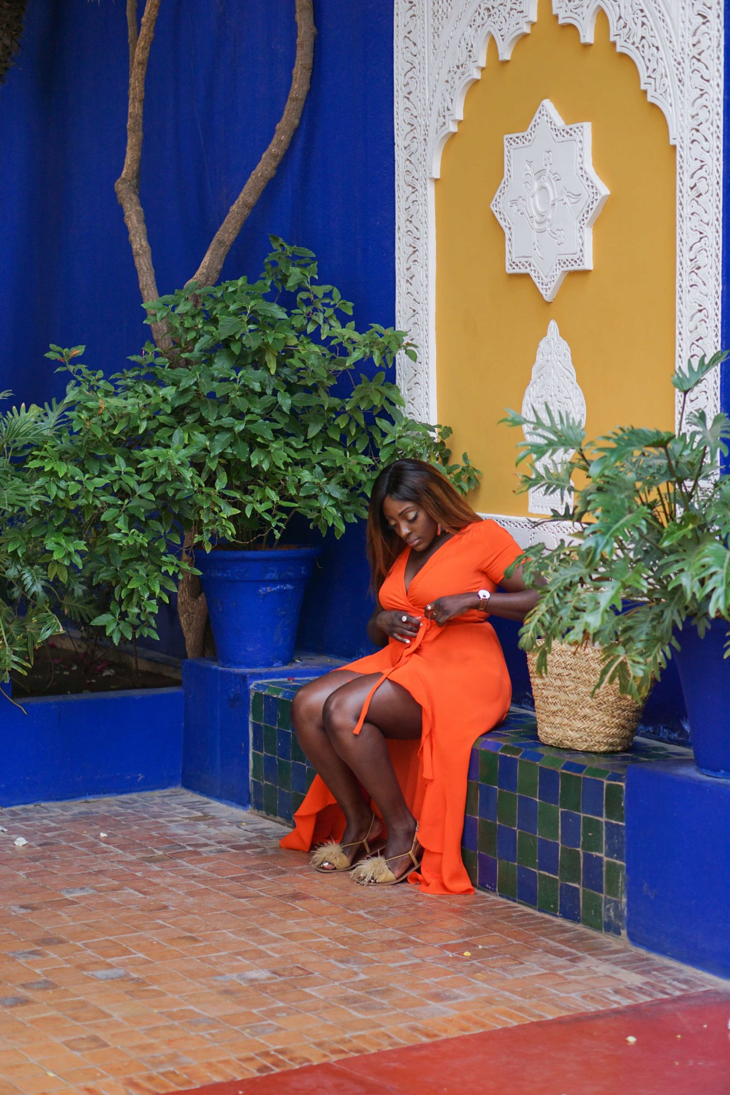 Marrakech - Le Jardin Majorelle Yves Saint Laurent 10 - Orange maxi dress from ASOS - Style and the Sass
