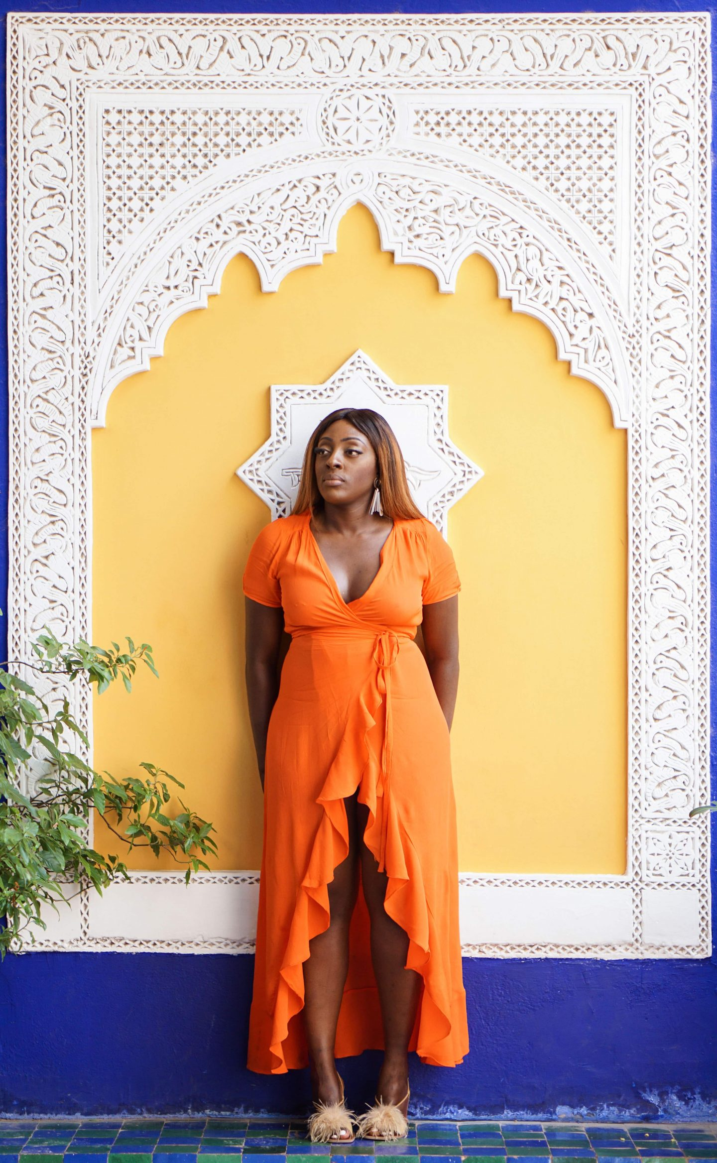 Marrakech - Le Jardin Majorelle Yves Saint Laurent 7 - Orange maxi dress from ASOS - Style and the Sass