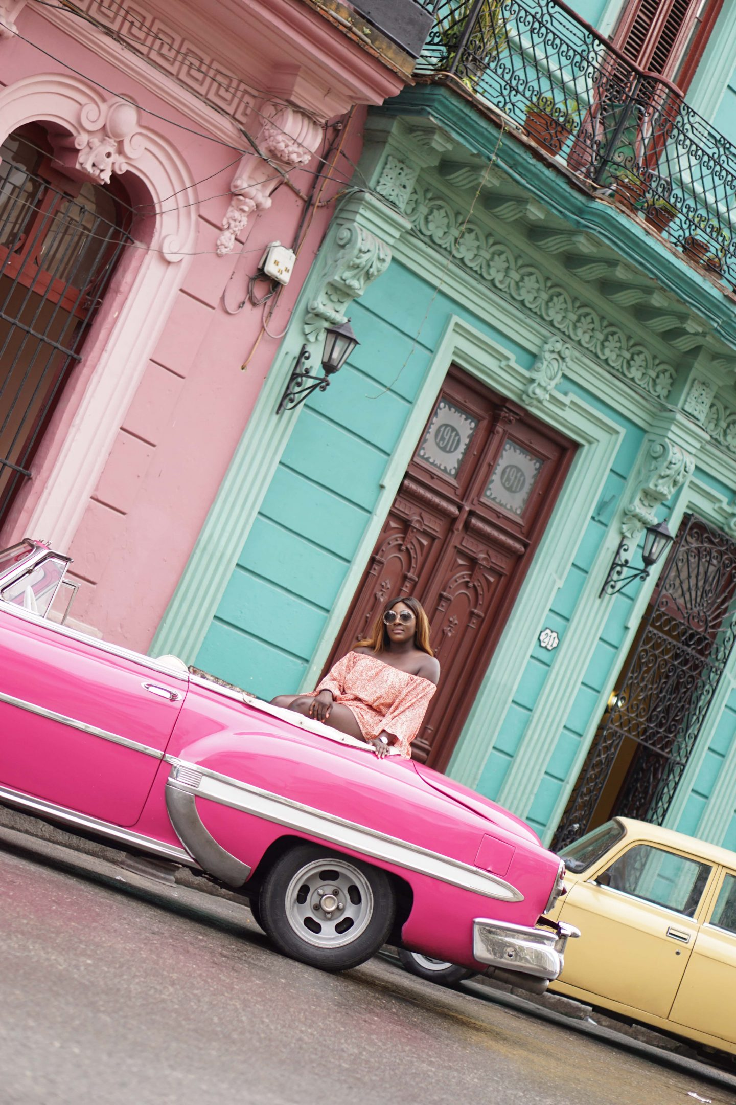 A Girls Trip Guide to Cuba 5 - Back Streets - Castaner wedges - cmeo collective playsuit - Chloe sunglasses - Style and the Sass