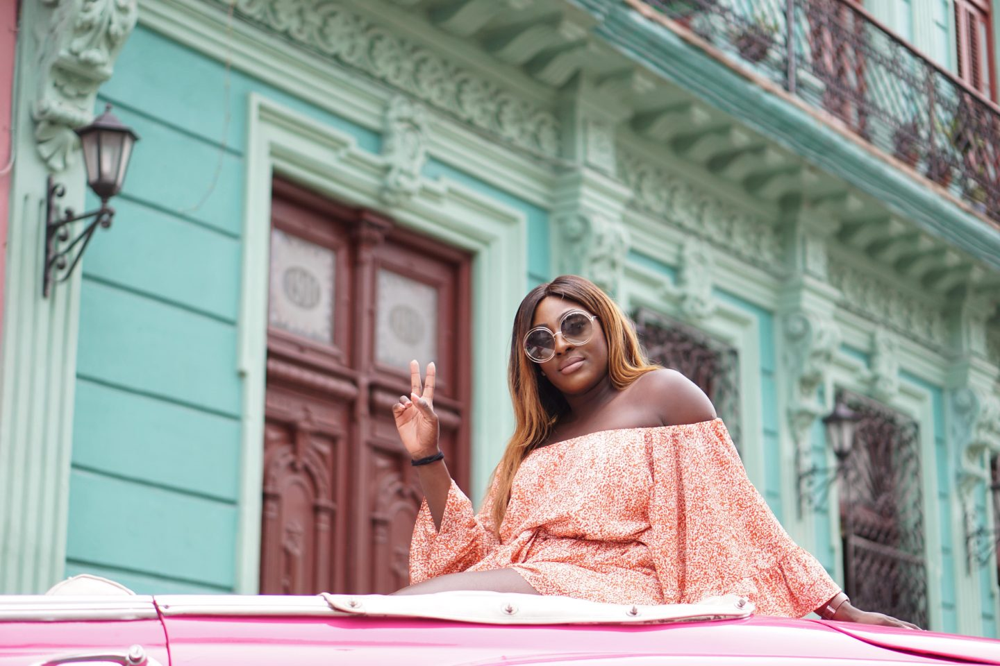 A Girls Trip Guide to Cuba 6 - Back Streets - Castaner wedges - cmeo collective playsuit - Chloe sunglasses - Style and the Sass