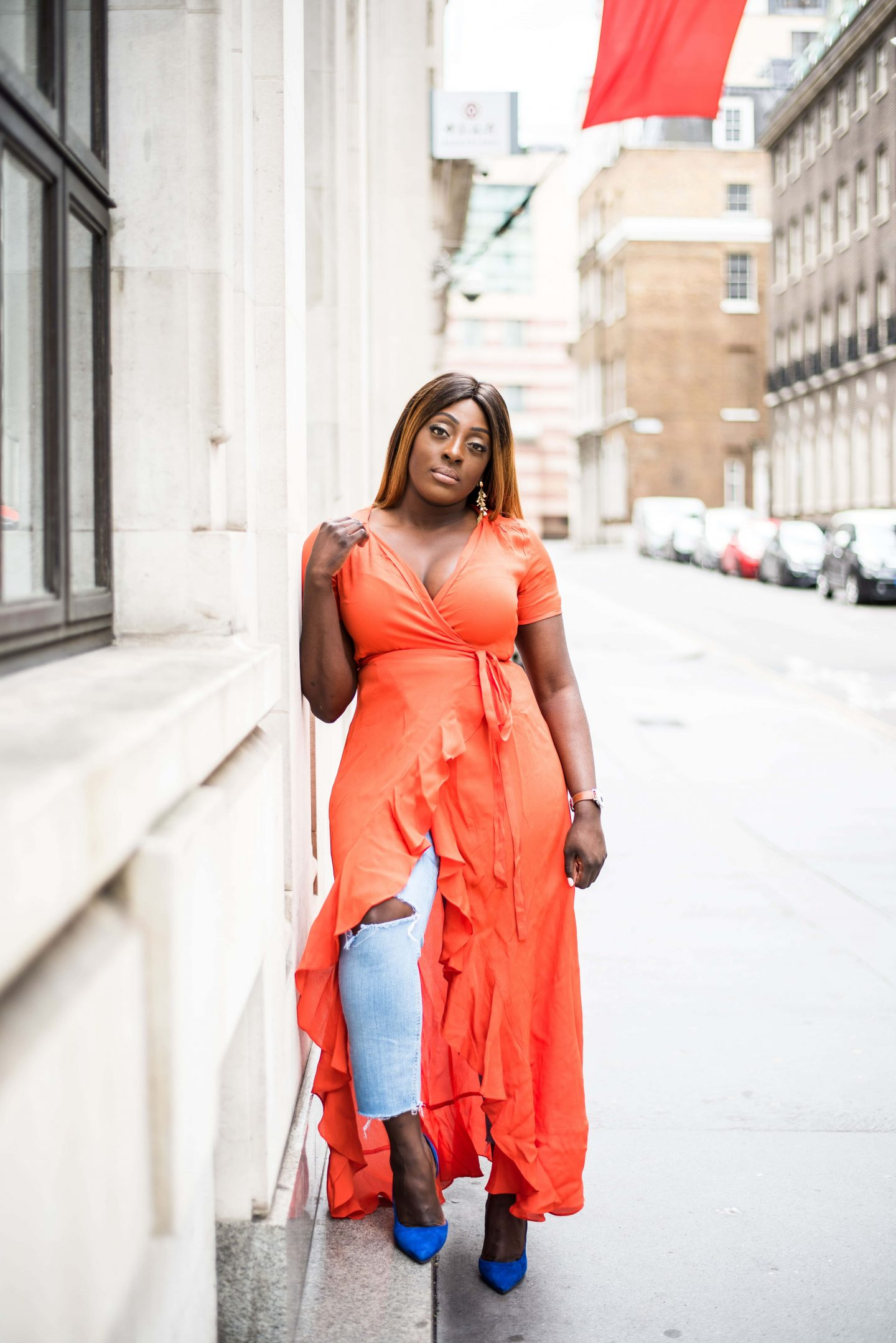 How to Style Your Summer Dresses in Autumn - asos - wrap - dress - office - shoes- Style and the Sass