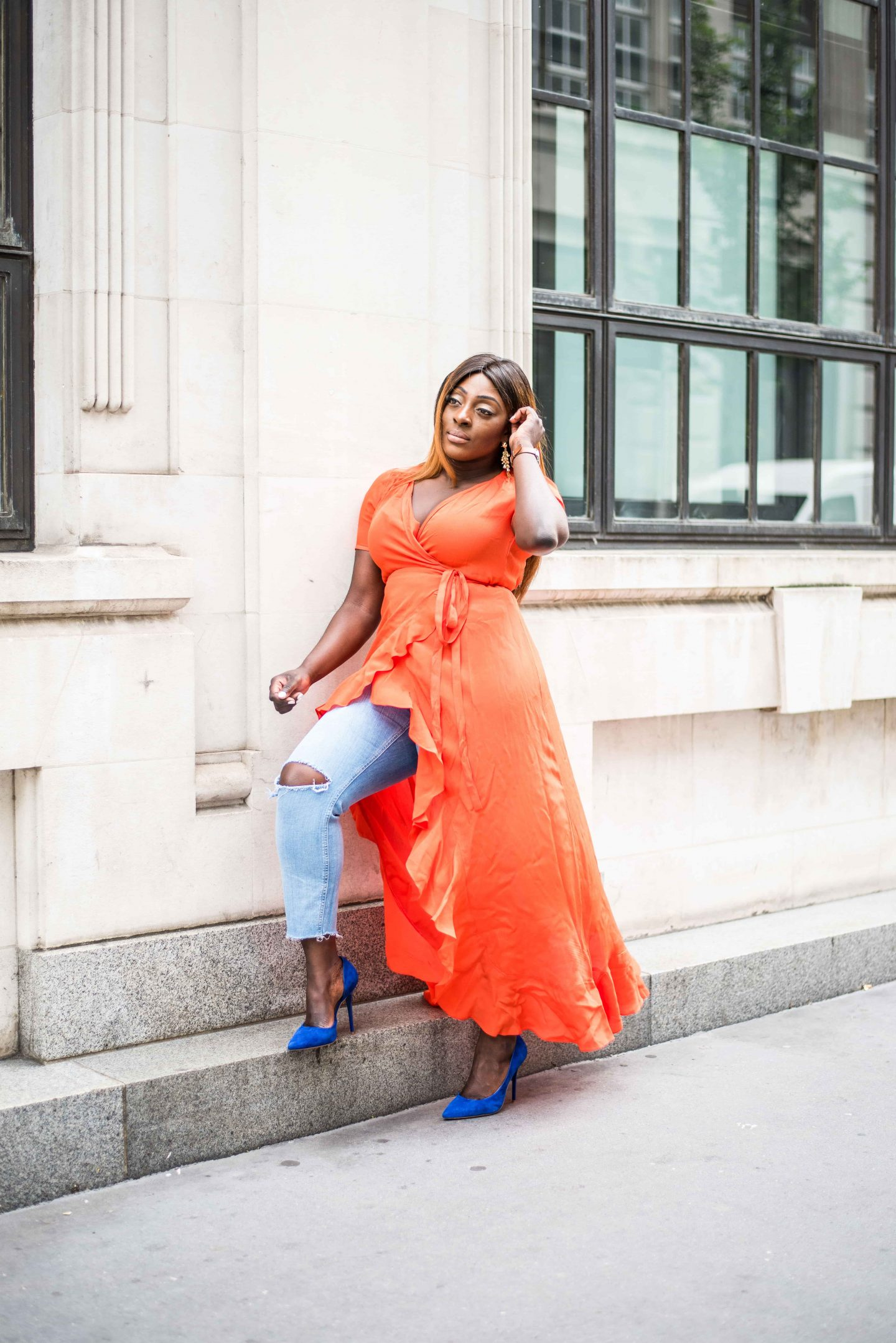 How to Style Your Summer Dresses in Autumn 2 - asos - wrap - dress - office - shoes- Style and the Sass