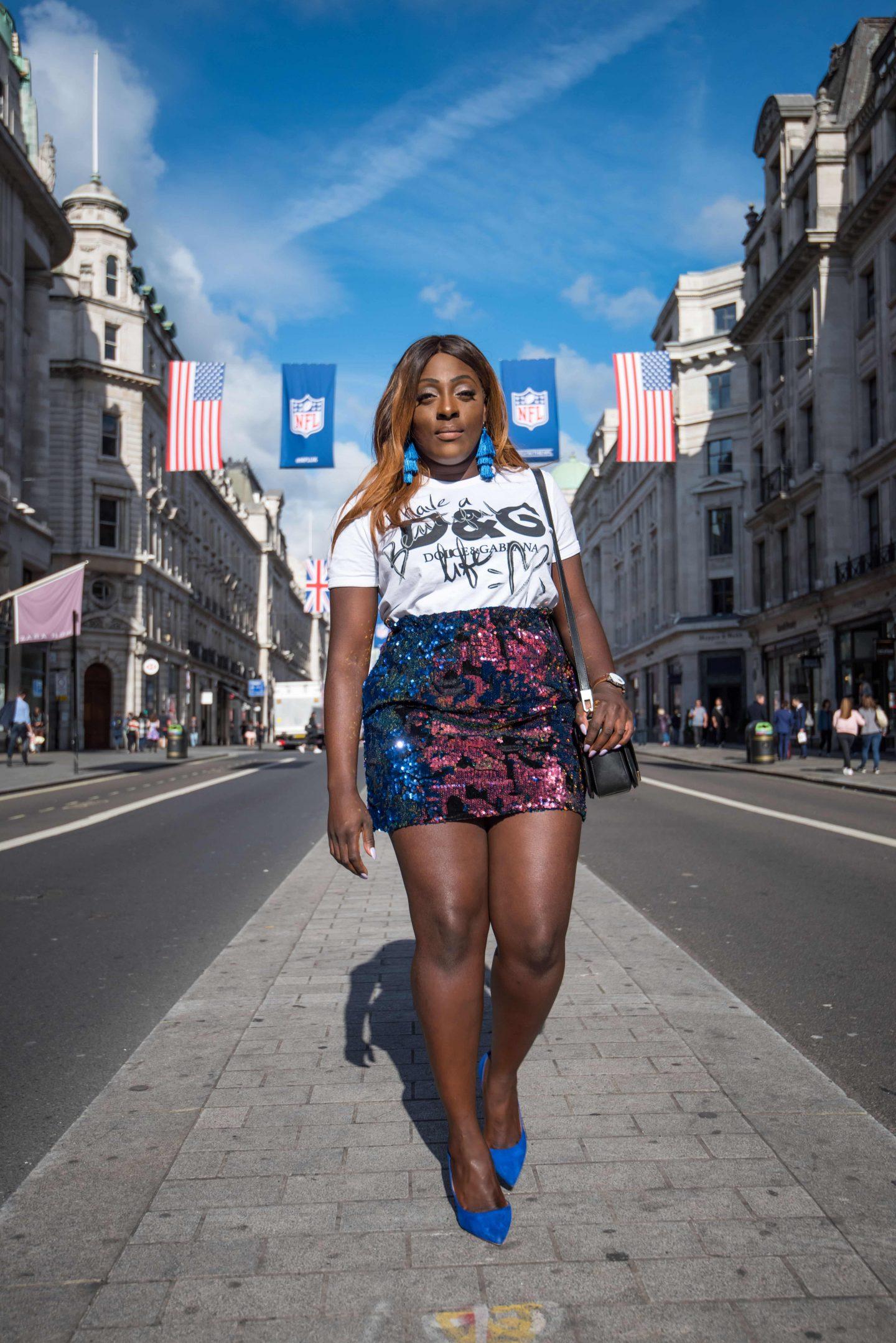 Positive Statements x Dolce & Gabbana - zara skirt - dolce and gabbana t-shirt - alexander wang bag