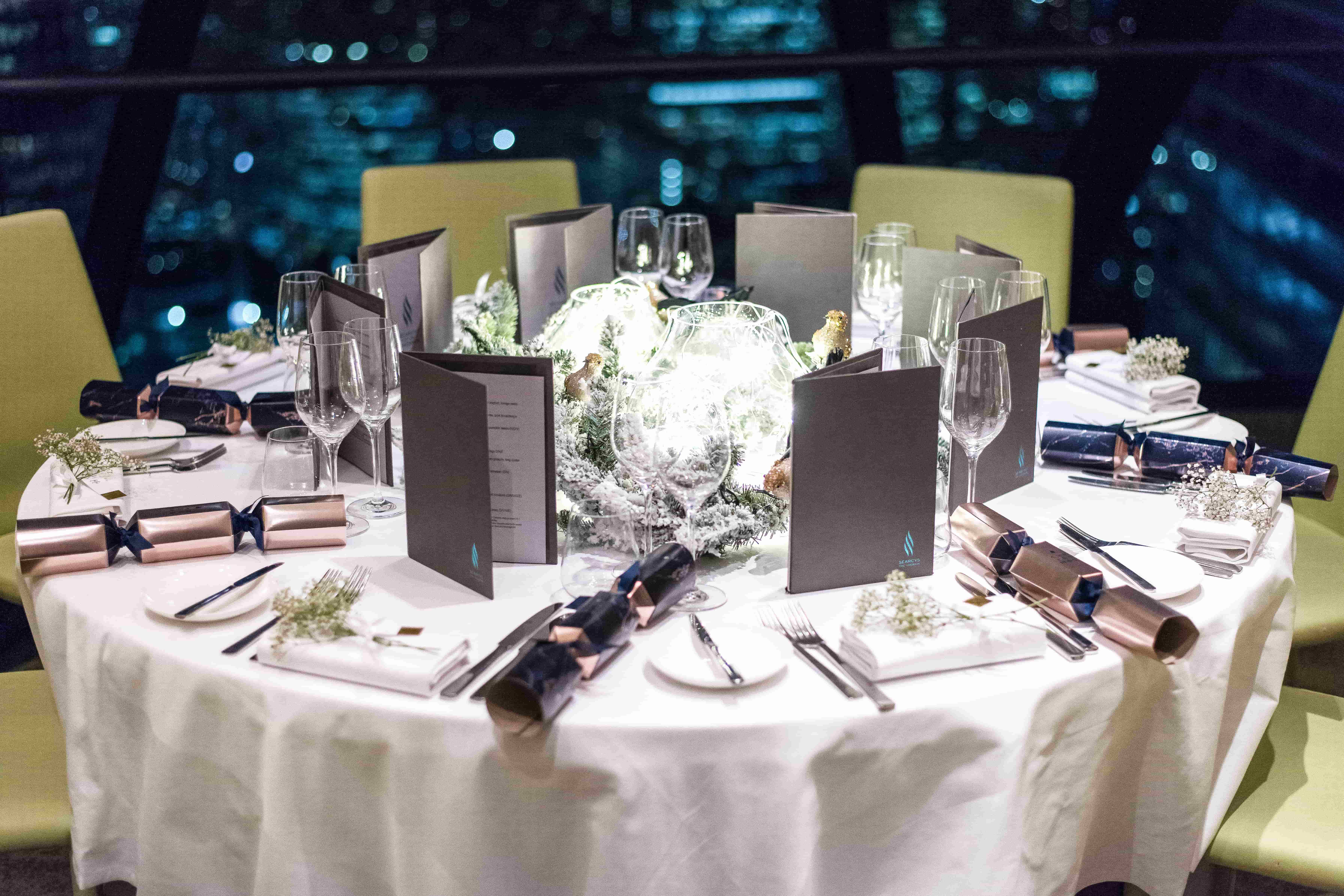 Christmas Dinner with House of Fraser - Searcys The Gherkin - Style and the Sass
