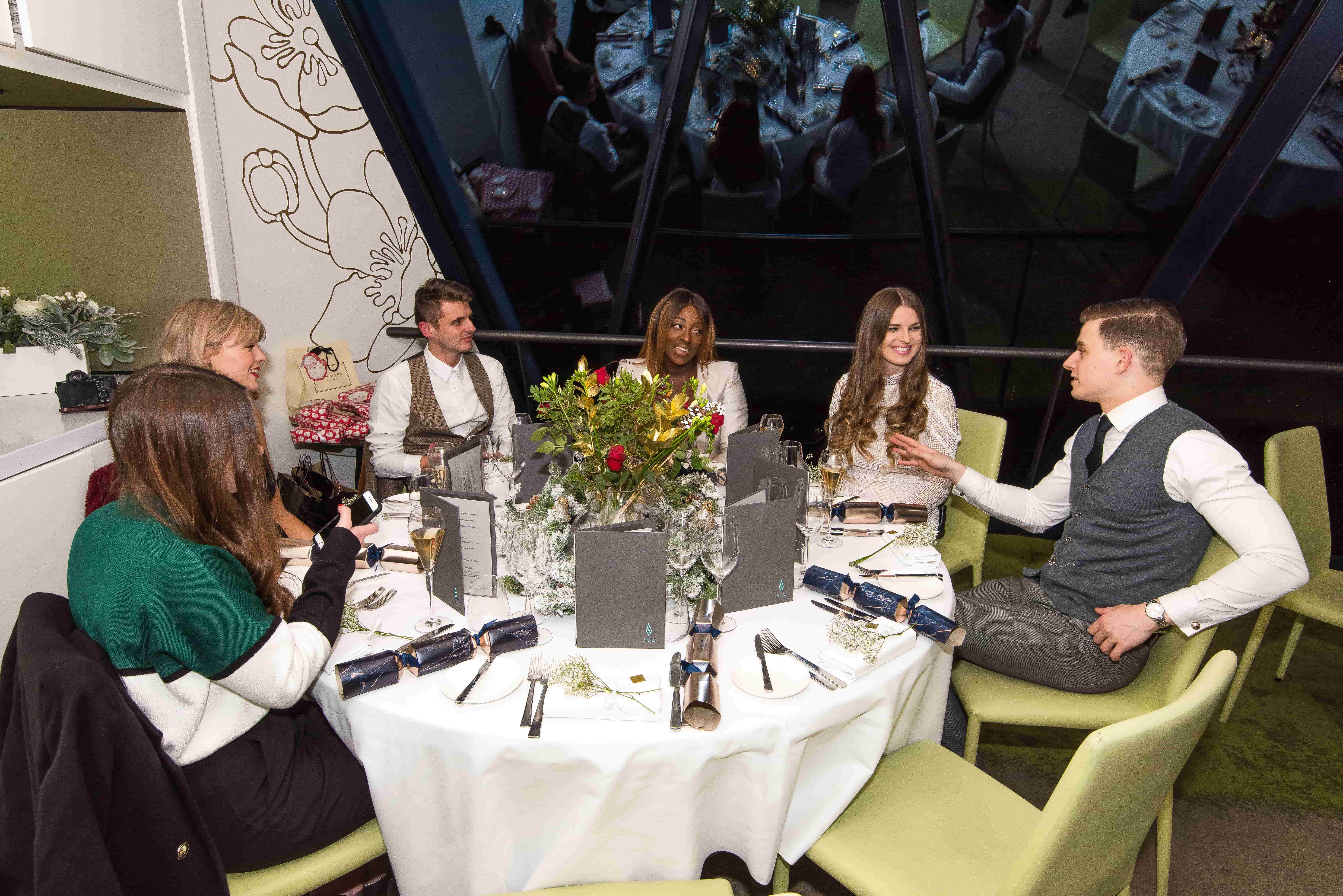Christmas Dinner with House of Fraser 1 - Searcys The Gherkin - Style and the Sass