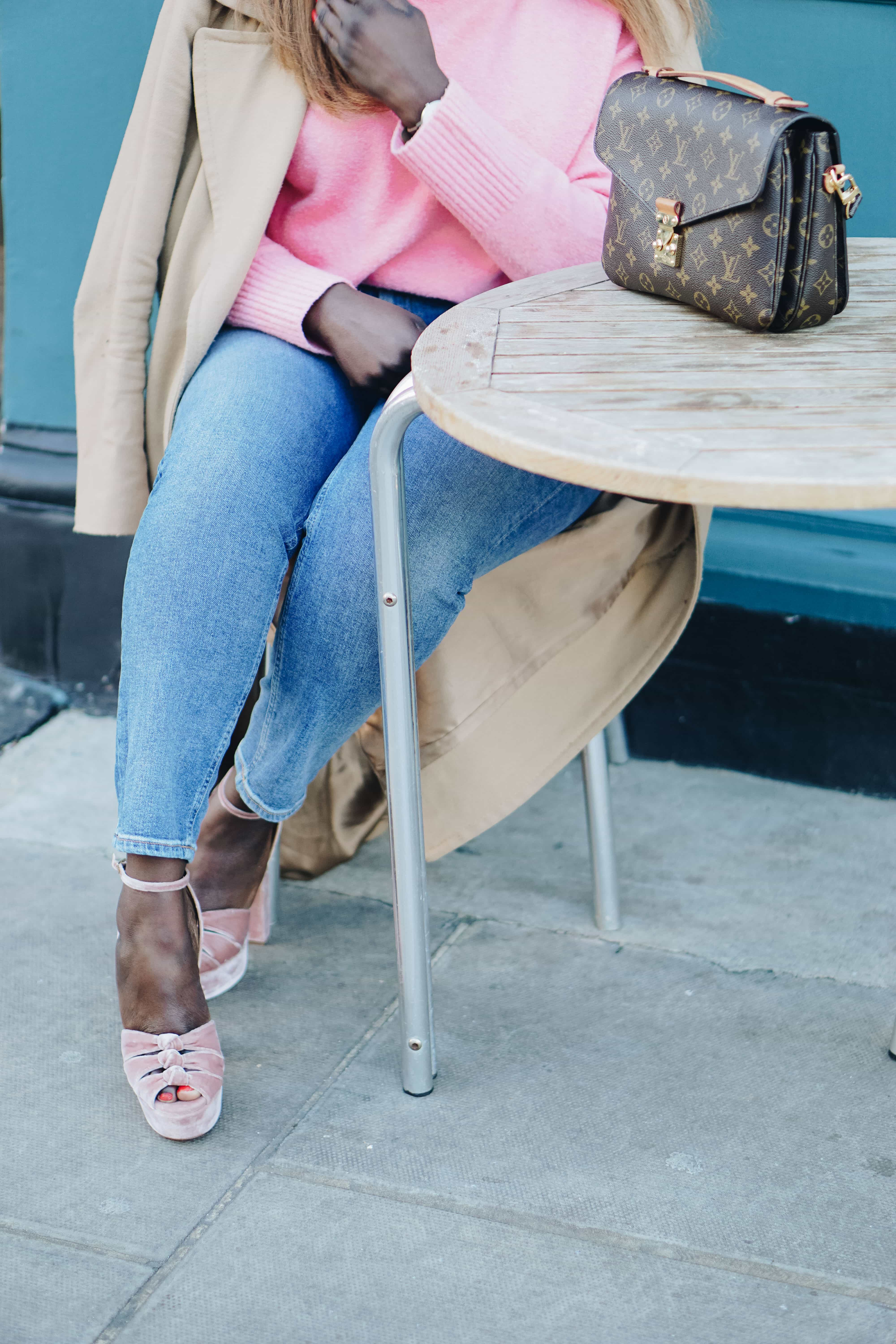 How Should You Invest Your Time in 2018 -1 - and other stories jumper - pink knitwear - aquazzura heels - les specs sunglasses - Style and the Sass
