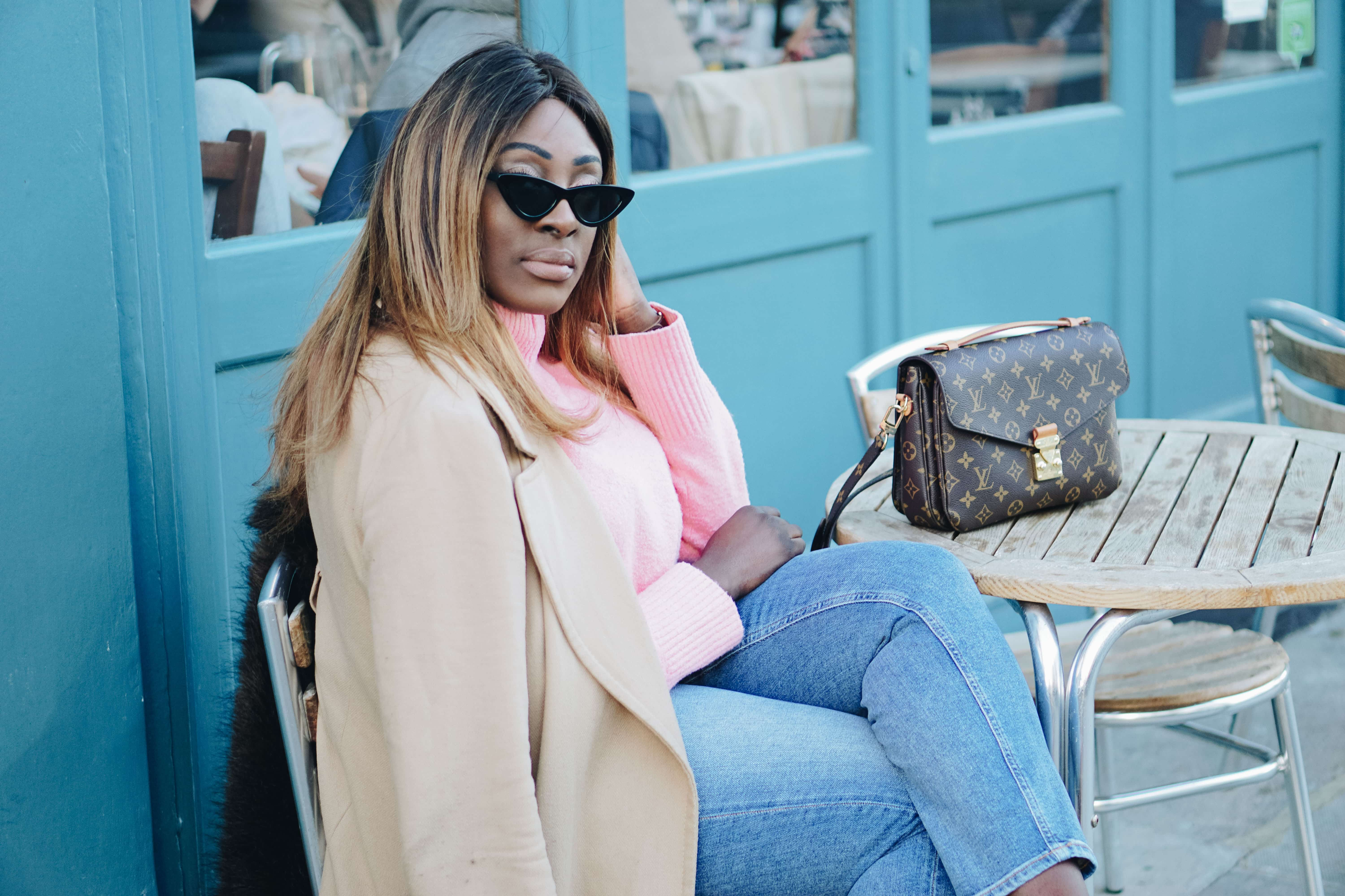 How Should You Invest Your Time in 2018 -4 - and other stories jumper - pochette metis Louis Vuitton - pink knitwear - aquazzura heels - les specs sunglasses - Style and the Sass