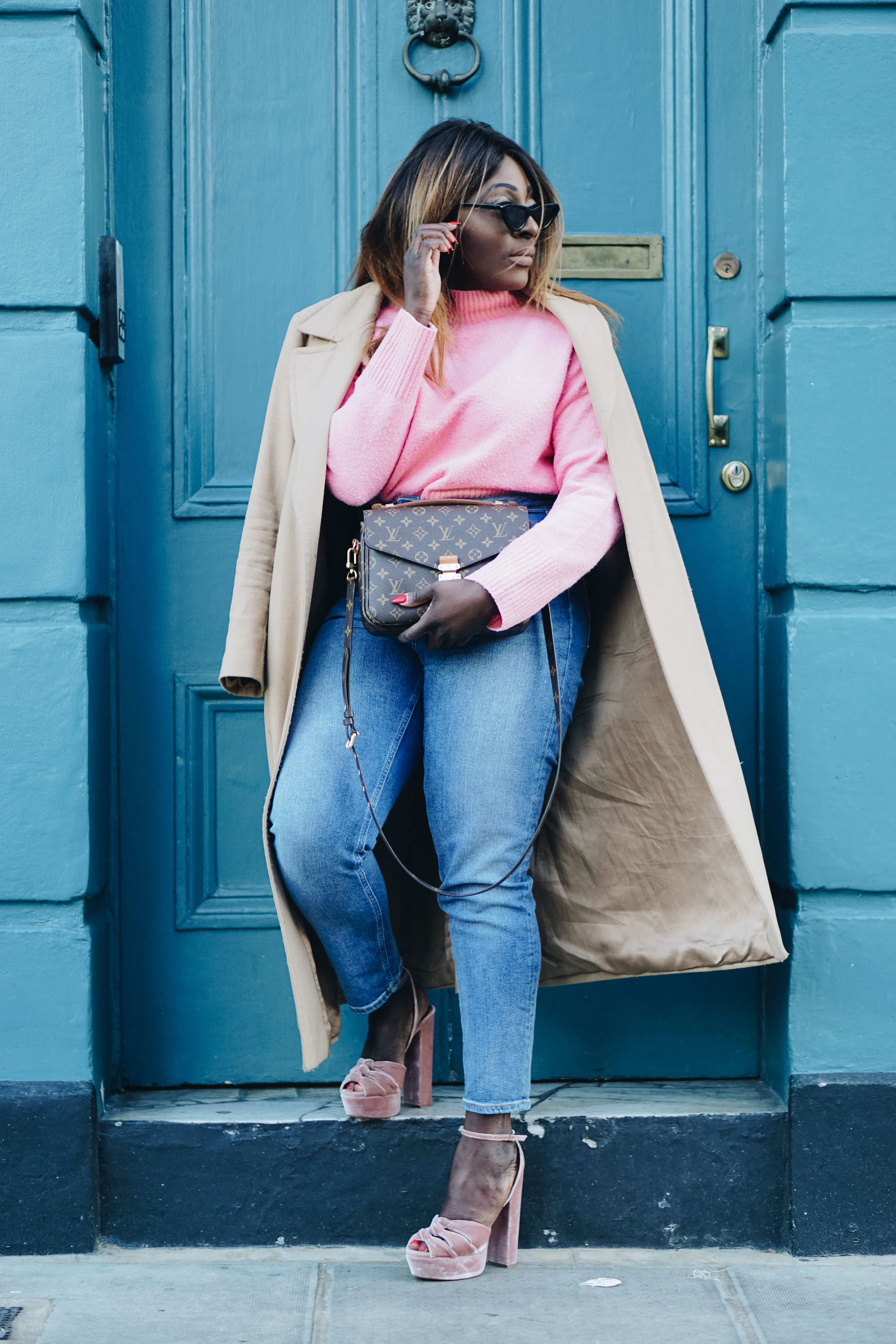 How Should You Invest Your Time in 2018 -3 - and other stories jumper - pochette metis Louis Vuitton - pink knitwear - aquazzura heels - les specs sunglasses - Style and the Sass