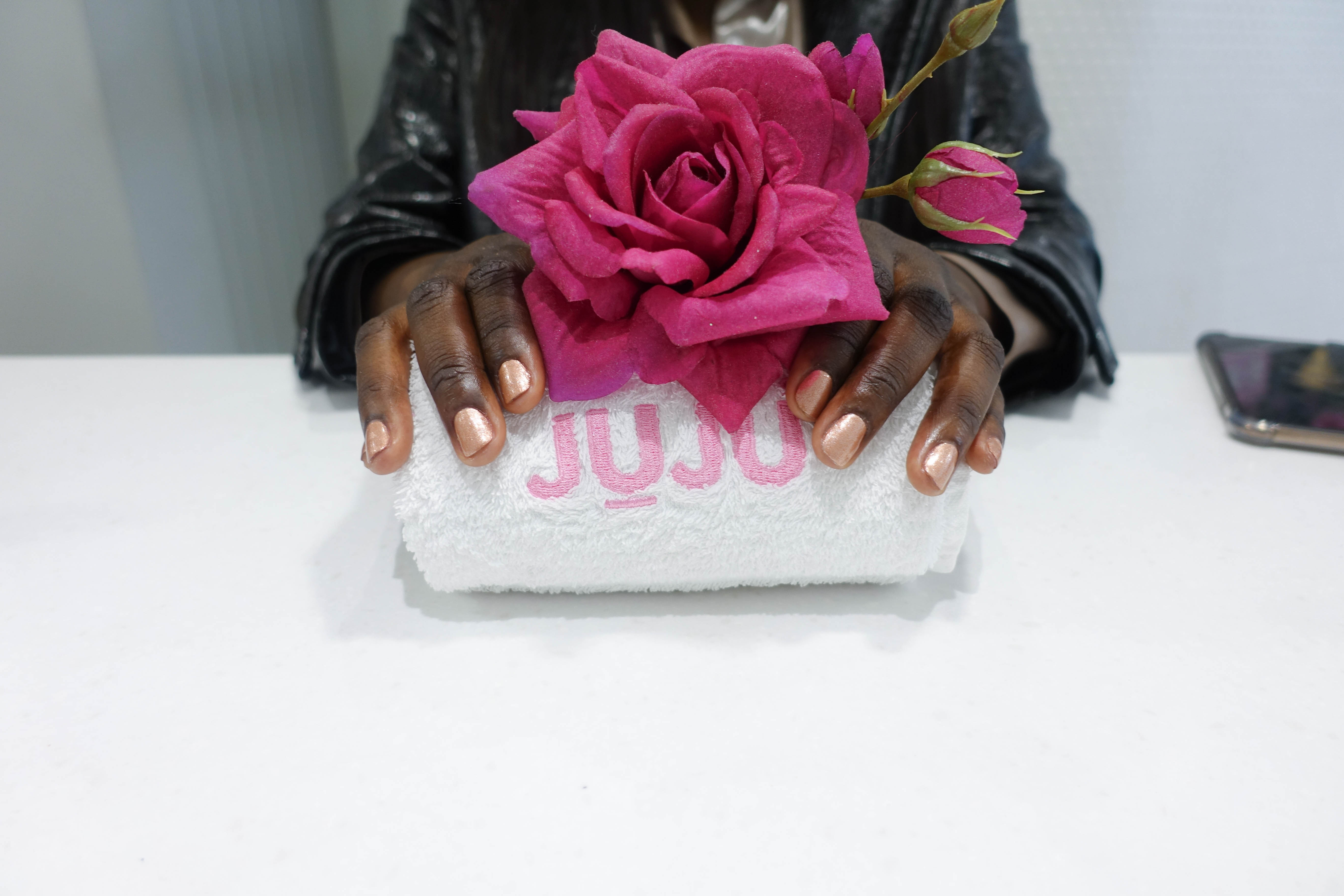 manicure on natural nails at jujus