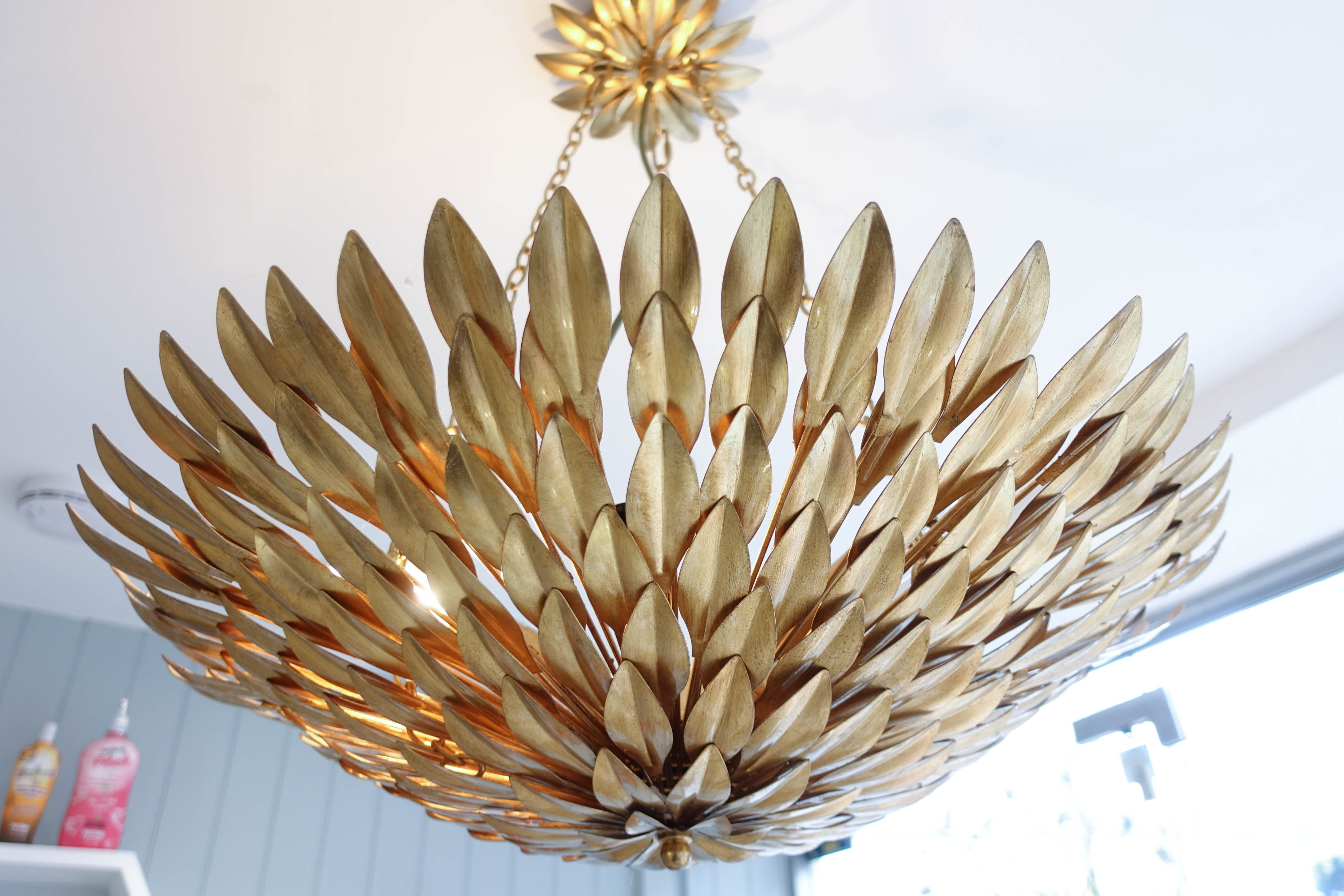 gold chandelier - jujus beauty salon - style and the sass