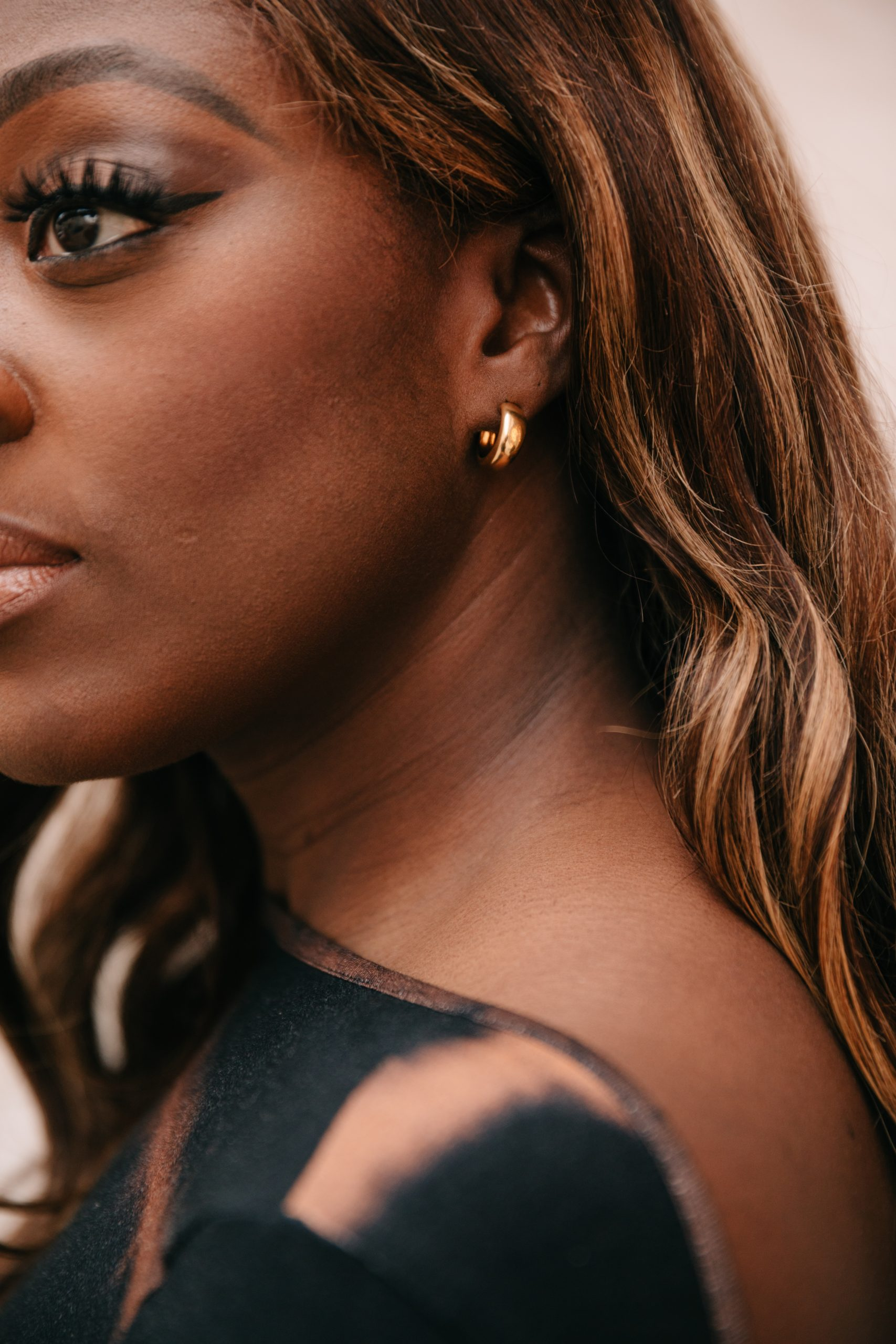 Dome gold hoops from Mejuri - Tasha Antwi