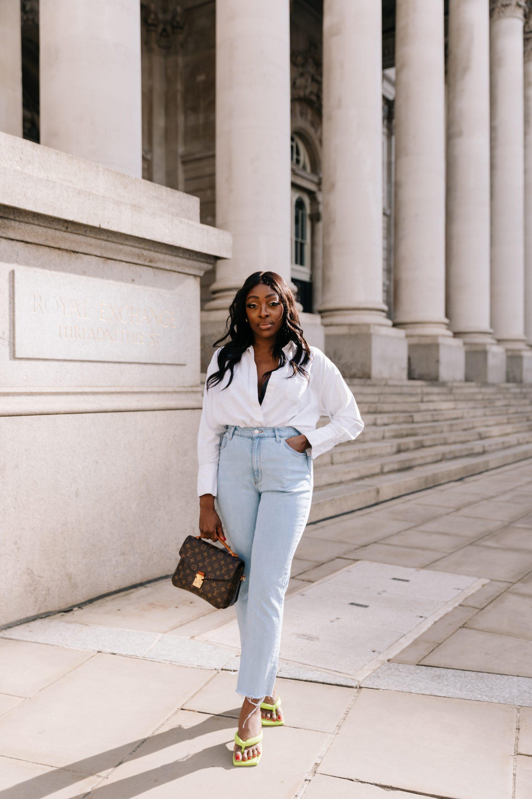 High Waisted Jeans & Denim Trends - high waisted jeans 2 - straight leg jeans - Tasha Antwi