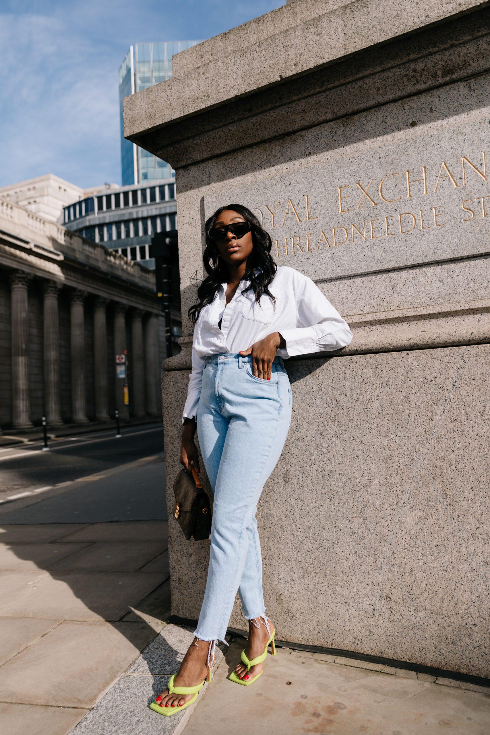 High Waisted Jeans & Denim Trends - high waisted jeans - straight leg jeans - Tasha Antwi